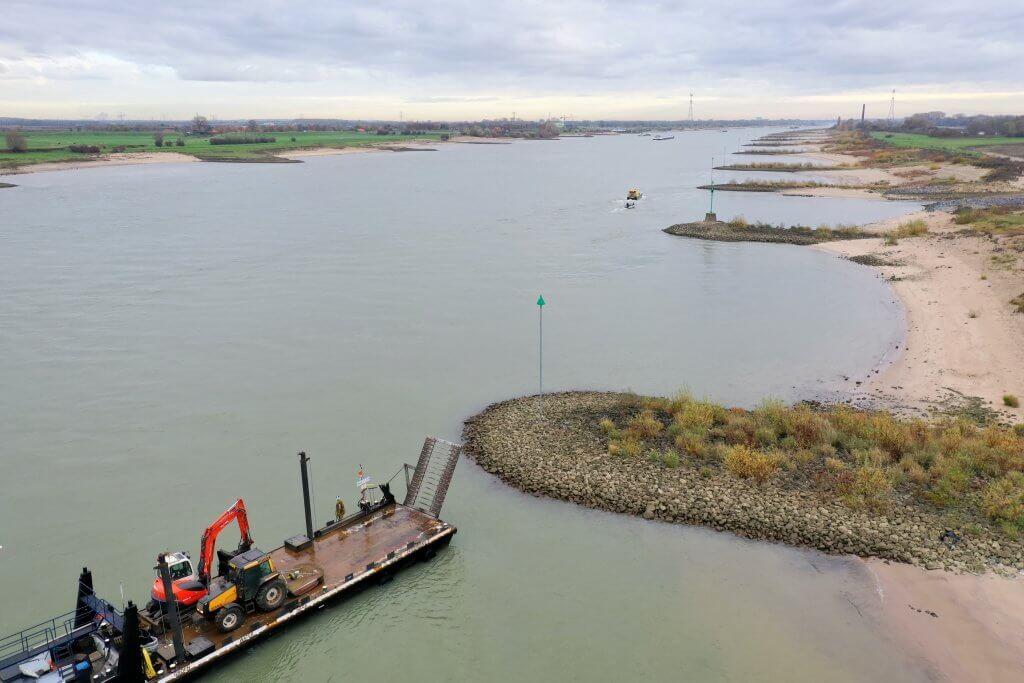 Drone opnames onderhoud oevers grote rivieren